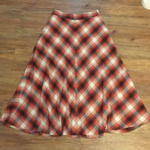 GAP Plaid Maxi Skirt A-Line w/ Pockets(medium fit)